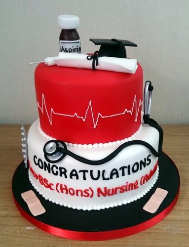 nurses, aduult nursing graduation cake