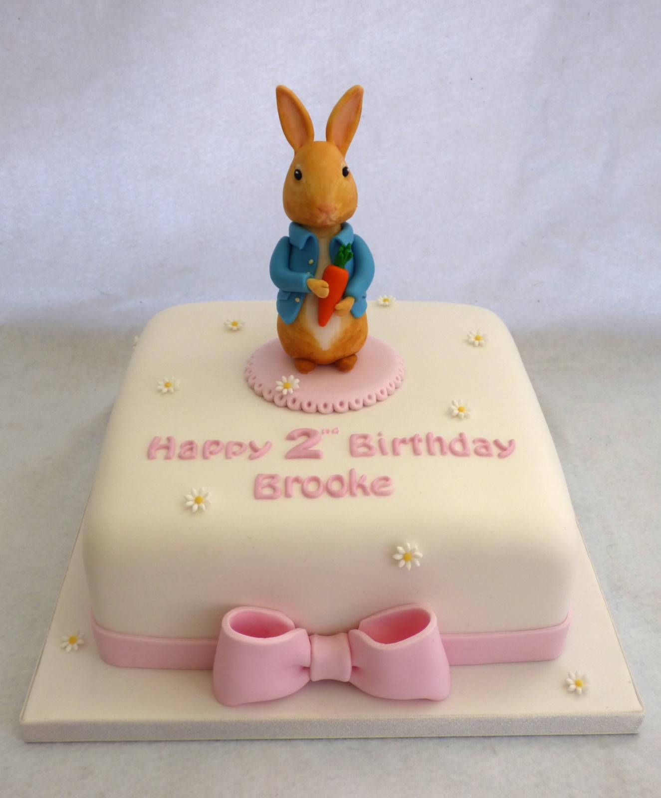 Miraculous Pretty Peter Rabbit Christening Birthday Cake For A Girl Susies Personalised Birthday Cards Epsylily Jamesorg