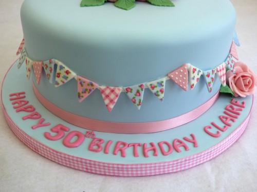 pretty vintage inspired birthday cake