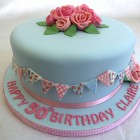 pretty vintage inspired birthday cake