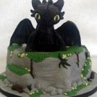 toothless dragon birthday cake