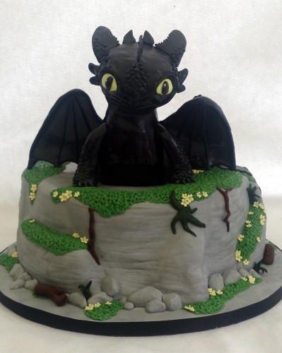 toothless dragon birthday cake