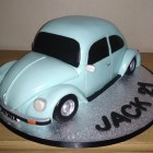 vw beetle birthday cake