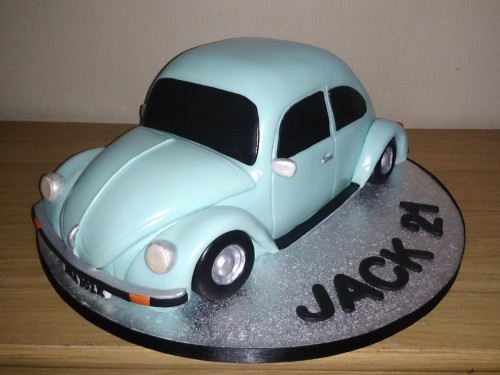 vw beetle birthday cake