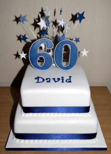 2 tier 60th birthday cake