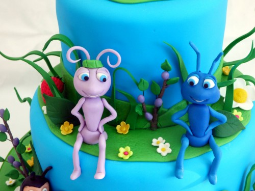 2 tier bug's life birthday cake