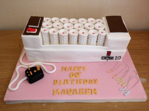 carmen heated rollers novelty birthday cake