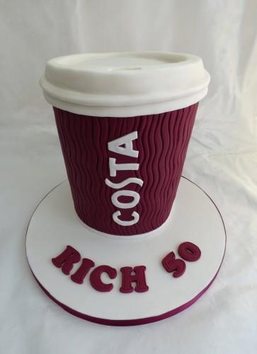 costa coffee cup birthday cake