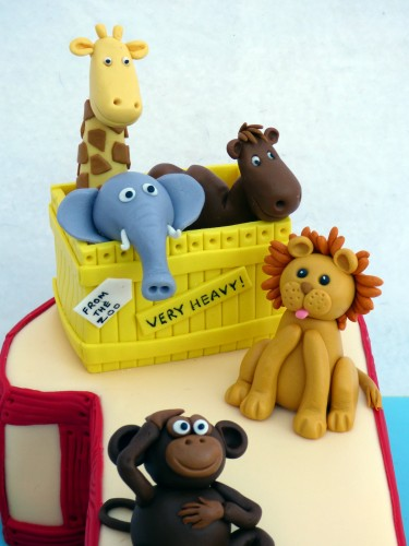 dear zoo 1st birthday cake