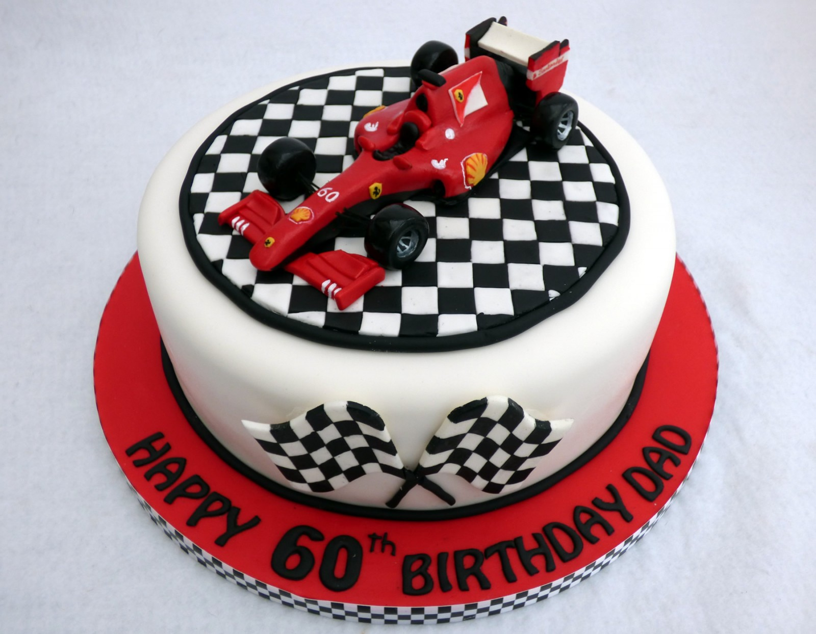 Pleasing Ferrari F1 Racing Car Birthday Cake Topper Susies Cakes Funny Birthday Cards Online Unhofree Goldxyz