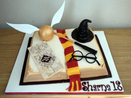 harry potter inspired book birthday cake