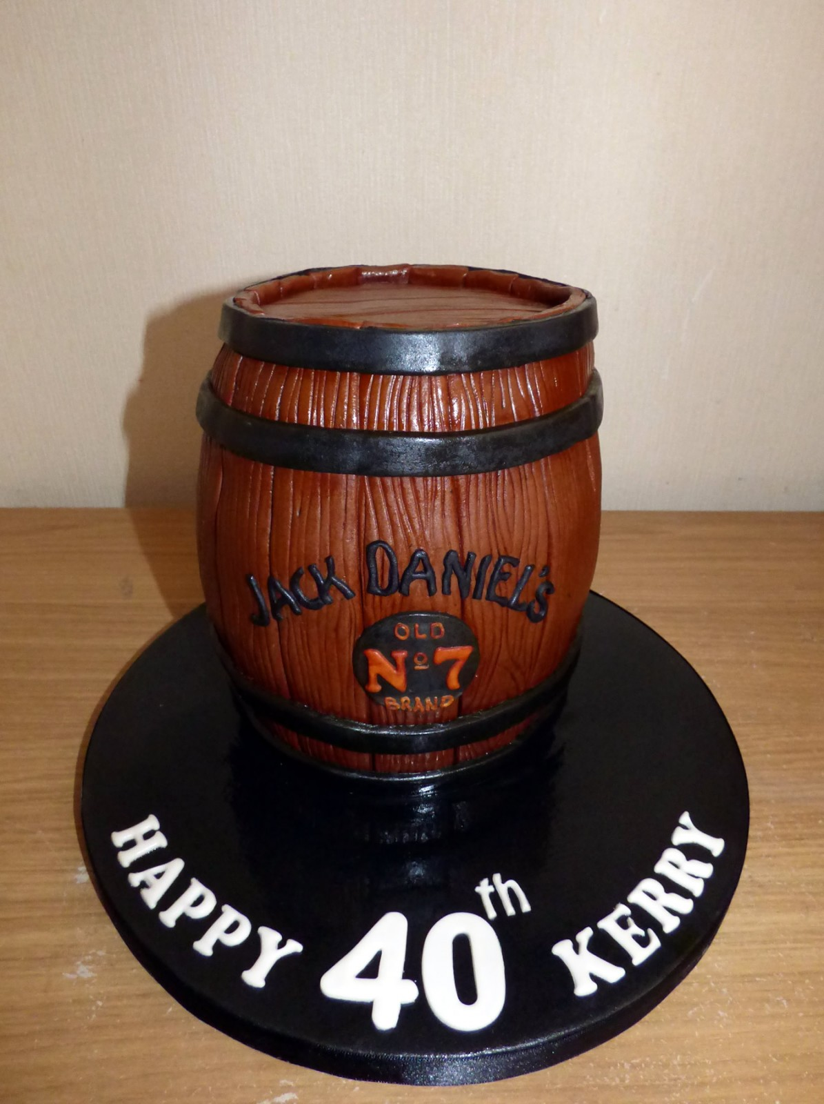 Magnificent Jack Daniels Barrel Birthday Cake Susies Cakes Personalised Birthday Cards Sponlily Jamesorg