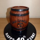 jack daniels barrel birthday cake