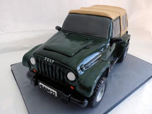 jeep wrangler birthday cake
