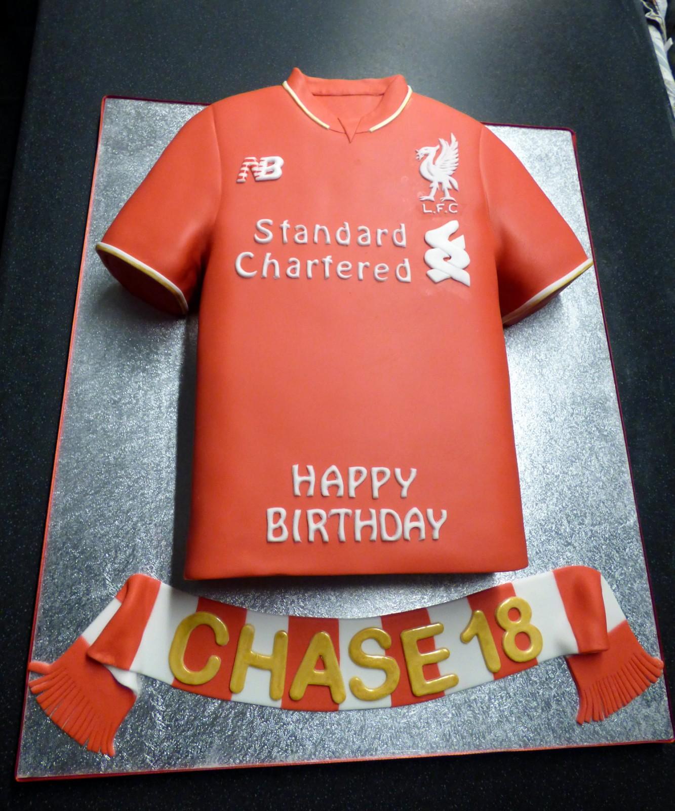 Liverpool Fc 2016 Shirt Birthday Cake Susies Cakes