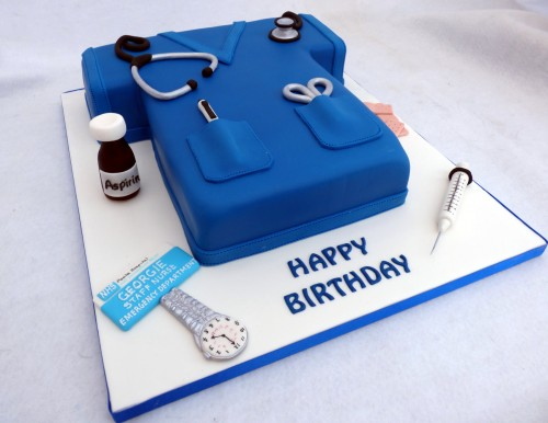 nurses tunic novelty birthday cake