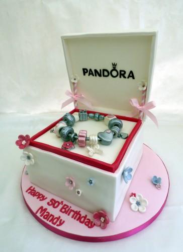 pandora gift box bracelet birthday cake