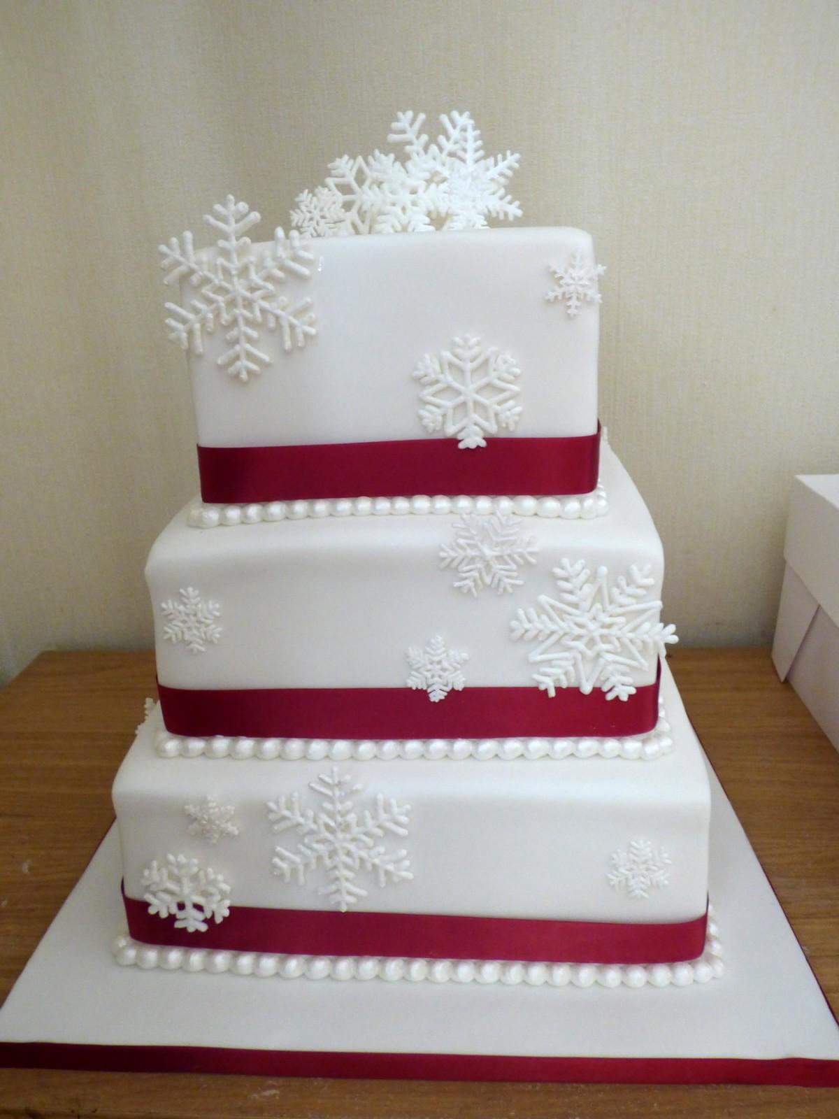 Winter Snowflake 3 Tier Wedding Cake « Susie\'s Cakes