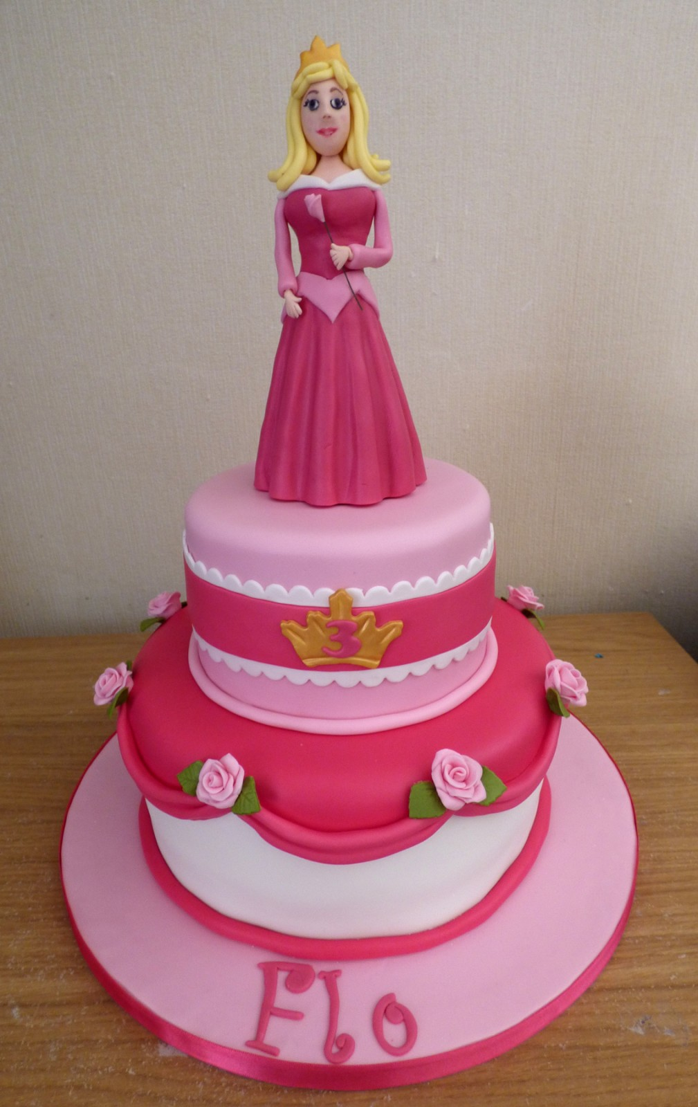 Pleasing 2 Tier Sleeping Beauty Princess Birthday Cake Susies Cakes Personalised Birthday Cards Paralily Jamesorg