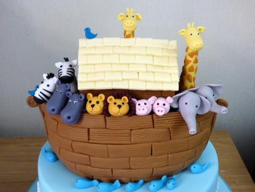 2-tier-noahs-ark-christening-baptism-cake