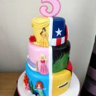3-tier-disney-princess-and-super-heroes-birthday-cake