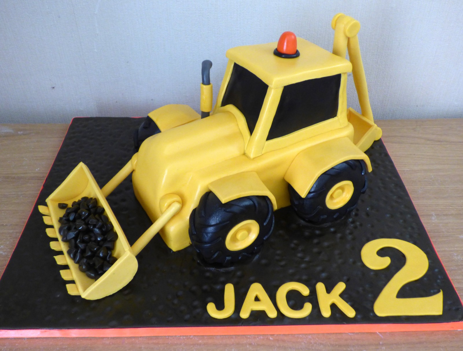 Big Yellow Digger Birthday Cake 171 Susie S Cakes