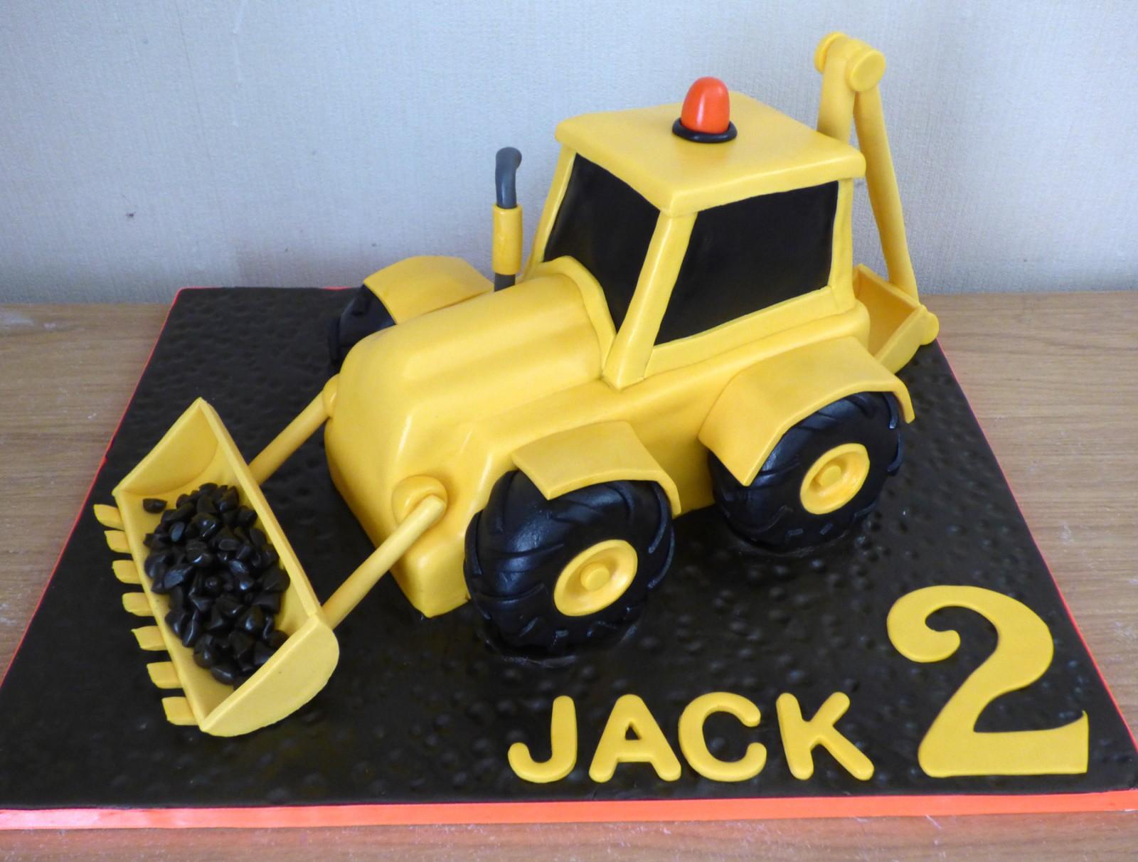 Amazing Big Yellow Digger Birthday Cake Susies Cakes Funny Birthday Cards Online Necthendildamsfinfo