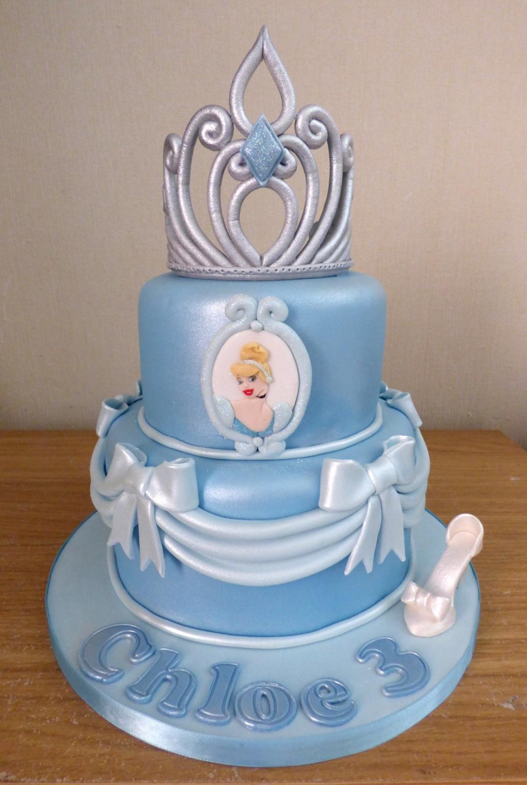 Prime 2 Tier Cinderella Princess Tiara Birthday Cake Susies Cakes Funny Birthday Cards Online Drosicarndamsfinfo
