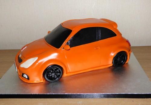 electric-orange-vauxhall-corsa-car-birthday-cake