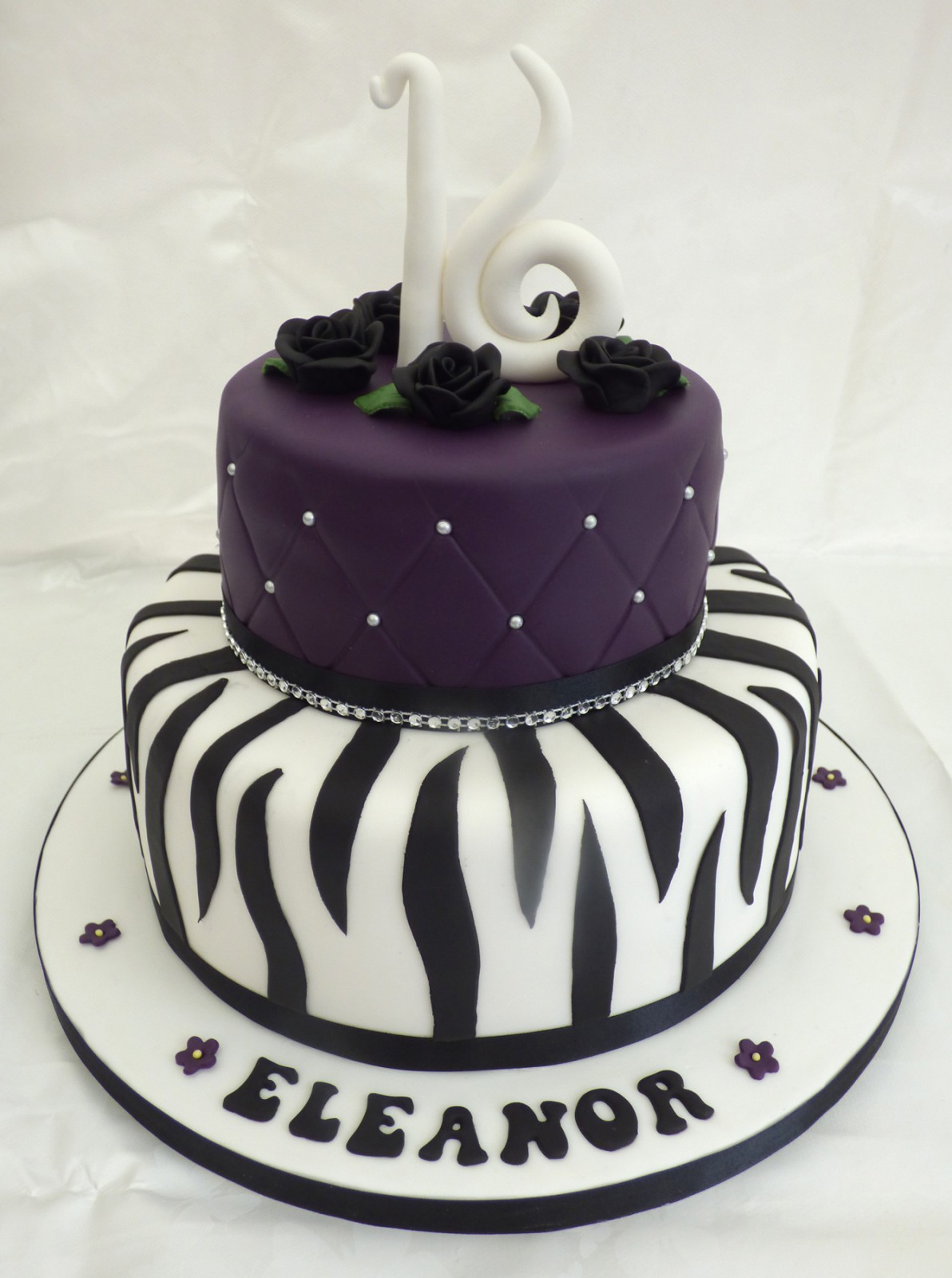 Elegant Cake Designs Birthday Cakes : Elegant 16th Birthday Cake With Zebra Stripes   Susie s Cakes
