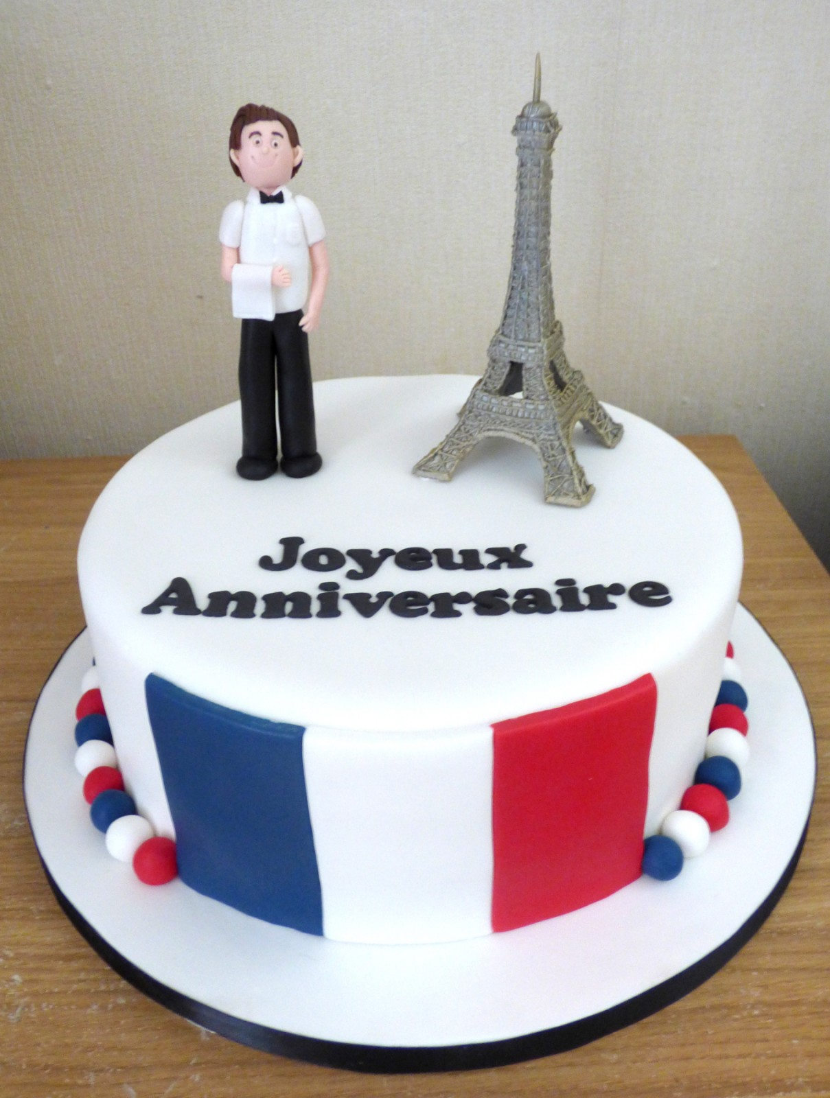 Fine French Waiter Birthday Cake Susies Cakes Funny Birthday Cards Online Overcheapnameinfo