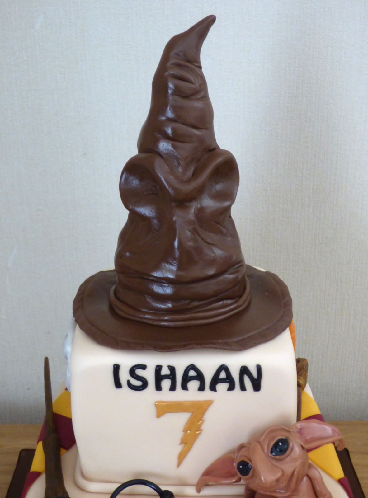 2 Tier Harry Potter Themed Birthday Cake