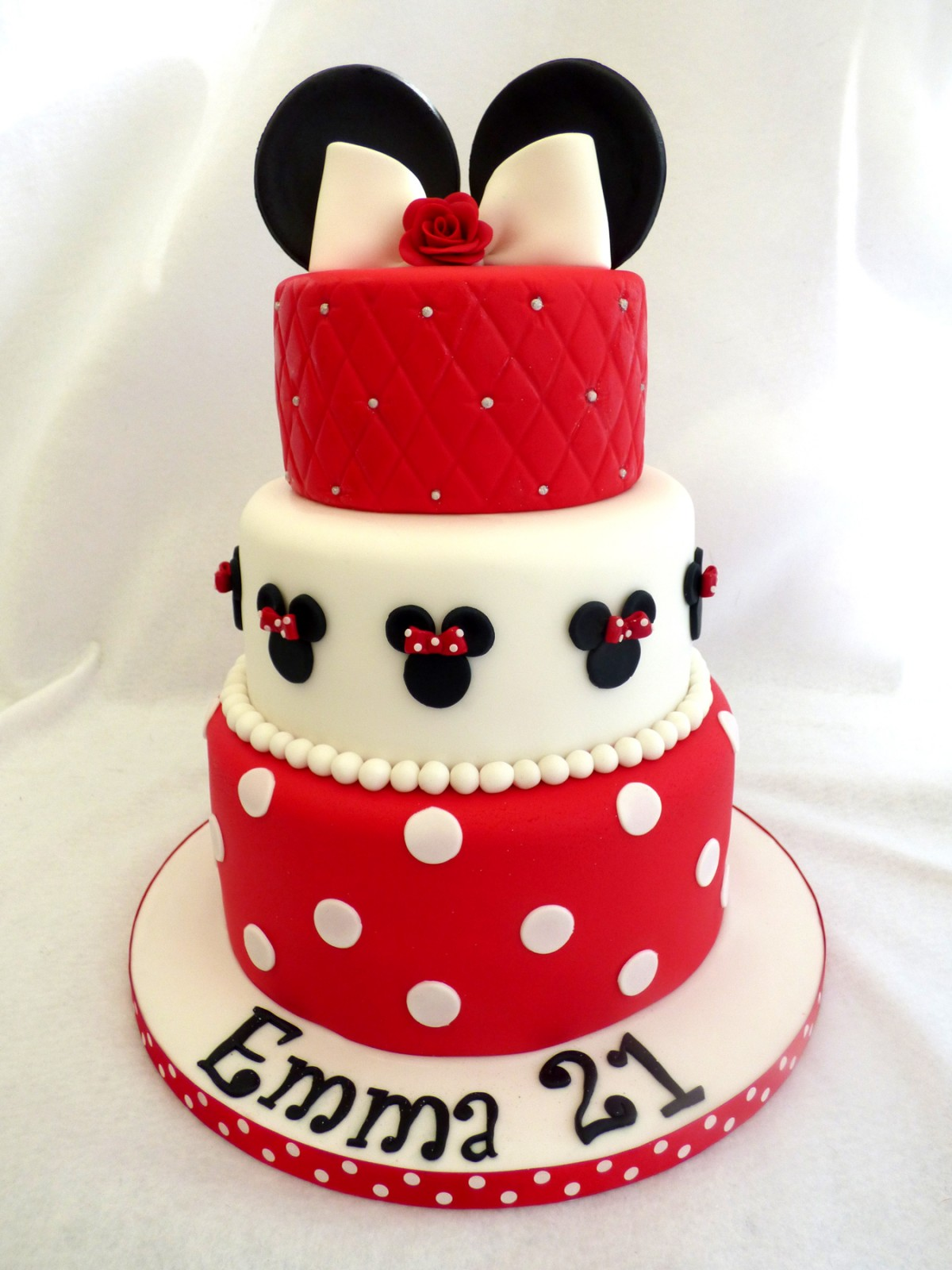 Tier Minnie Mouse Inspired Birthday Cake « Susies Cakes