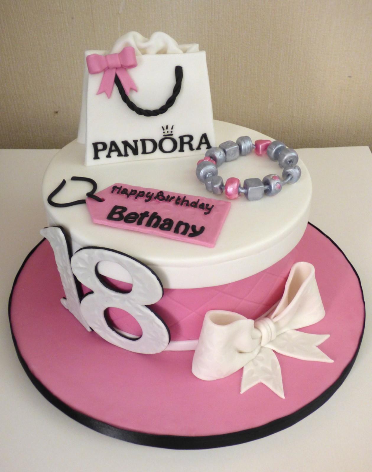 Astonishing Pandora Bag And Charm Bracelet 18Th Birthday Cake Susies Cakes Birthday Cards Printable Opercafe Filternl