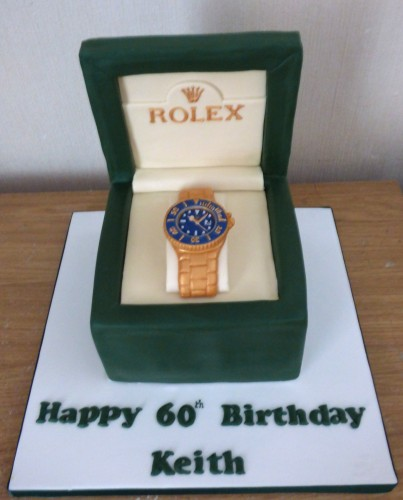 rolex-blue-face-watch-in-a-box-birthday-cake