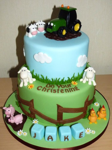 2-tier-farmyard-themed-christening-cake