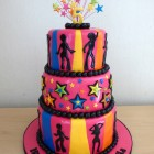 3-tier-disco-themed-birthday-cake