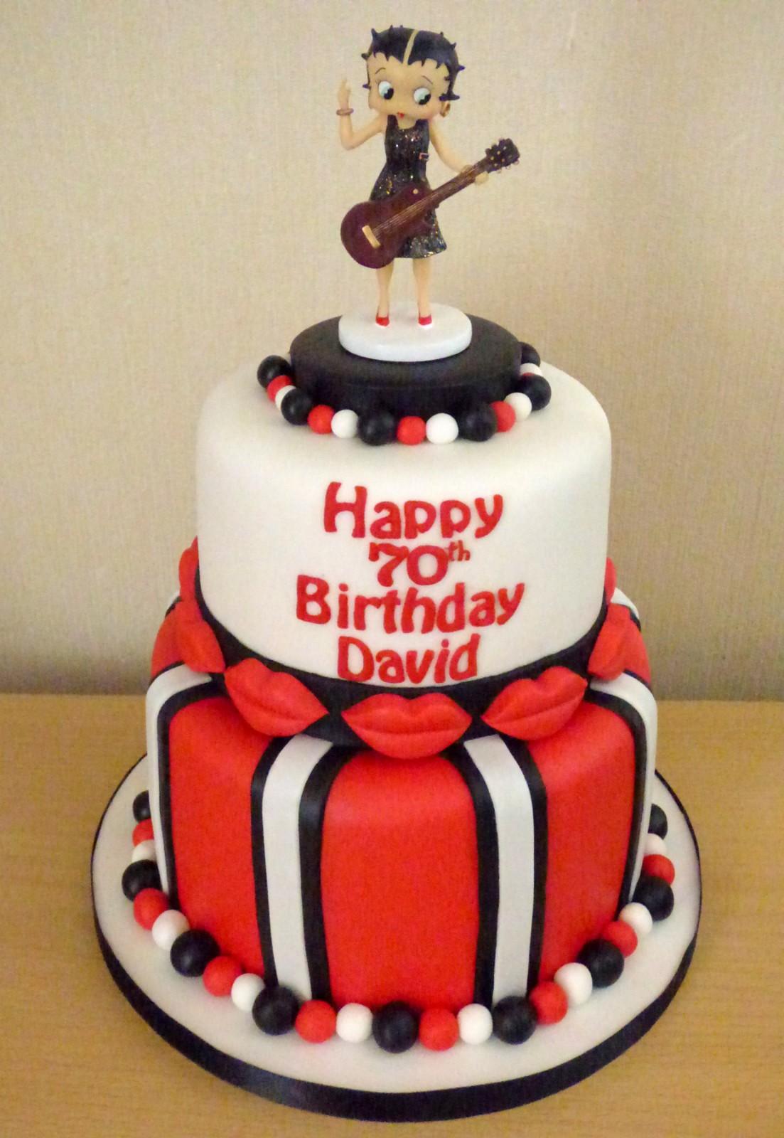 Tremendous Betty Boop Inspired Birthday Cake Susies Cakes Personalised Birthday Cards Veneteletsinfo