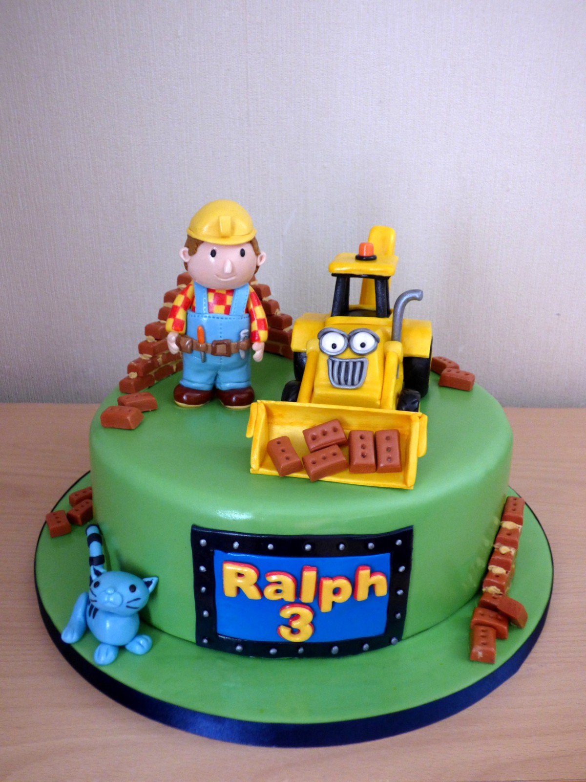 Excellent Bob The Builder And Friends Birthday Cake Susies Cakes Funny Birthday Cards Online Elaedamsfinfo