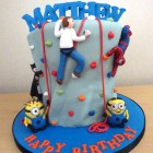 climbing-cake-with-batman-spiderman-and-minions