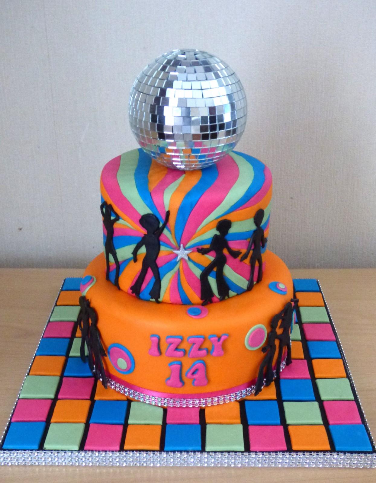 2 Tier Disco Diva 70s Themed Birthday Cake Susies Cakes
