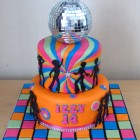disco-diva-70's-themed-birthday-cak