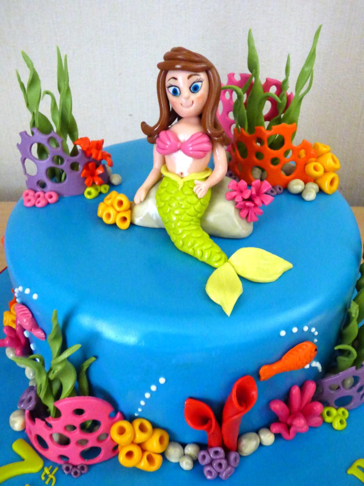 Mermaid Underwater Themed Birthday Cake « Susies Cakes