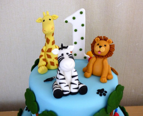 2-tier-jungle-animal-themed-1st-birthday-cake