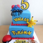 2-tier-pokemon-themed-birthday-cake