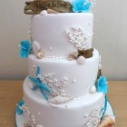3-tier-beach-turquoise-themed-wedding-cake