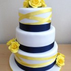 3-tier-navy-and-yellow-wedding-cake