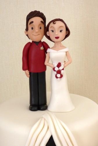 3-tier-star-trek-themed-half-and-half-wedding-cake