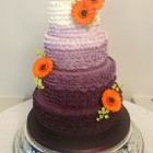 4-tier-purple-ombre-wedding-cake-with-gerberas