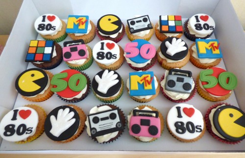 80's-themed-cupcakes